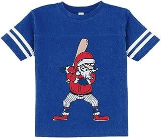 Ho Ho Home Run Santa Claus Baseball Player Christmas Toddler Jersey T-Shirt