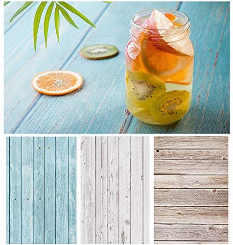 Bcolor Fotohintergr& für Lebensmittelfotografie, Holz, doppelseitig, flach, 56 x 88 cm, 6 Muster