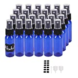 BPFY 24 Pack 1 oz Plastic Spray Bottles, Fine Mist Mini Travel Size Sprayer Bottle, Refillable Liquid Containers for Perfume, Alcohol, Hand Sanitizer, Essential Oil, Aromatherapy