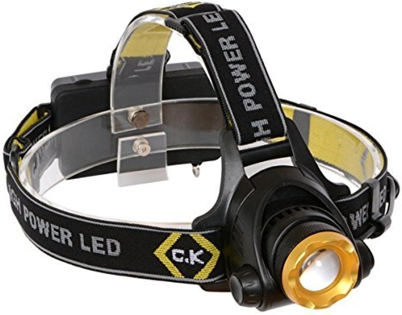 C.K T9620R T9620R T9620R 200 Rechargeable Lumens LED Head Torch Set by C.K B01I7RO5P8 | eine breite Palette von Produkten  d8709a