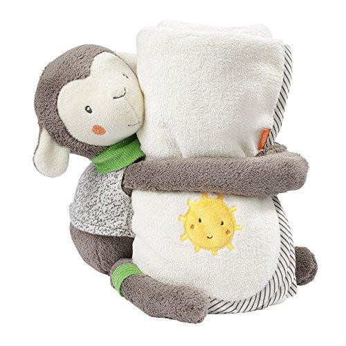 Fehn 061178 knuffeldier schaap met deken, perfecte cadeauset van knuffeldier en knuffeldeken om te knuffelen, knuffelen en liefhebbers | Voor baby's en peuters vanaf 0 maanden