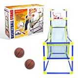 Global Gizmos 55639 Arcade Basketball Hoop | Indoor/Outdoor Use | Easy To Assemble | 2 Balls & Pump Included | Kids Games | 86cm x 46cm x 139cm