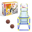 Global Gizmos 55639 Arcade Basketball Hoop / Indoor, Outdoor Use / Easy To Assemble / 2 Balls & Pump Included / Kids Games / 86cm x 46cm x 139cm