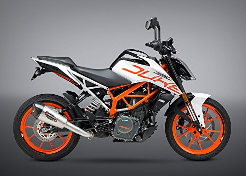 Yoshimura Alpha T Slip-On Exhaust (Street/Stainless Steel/Stainless Steel/Carbon Fiber/Works Finish) Compatible with 17-18 KTM RC390