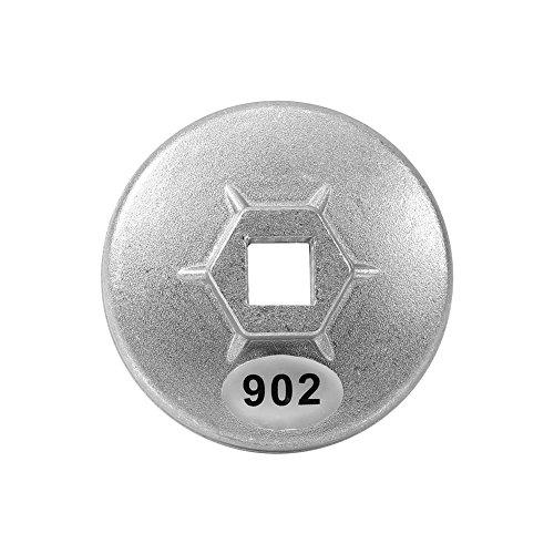 902 Clé de Filtre à Huile, Keenso 67mm 14 Flûtes Filtre à Huile Clé à Douille Bouchon Outil de Boîtier Remover en Aluminium Outil de Démontage de Voiture