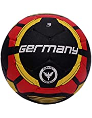 Vector X Germany Rubber Moulded Football, Size 3, black-red