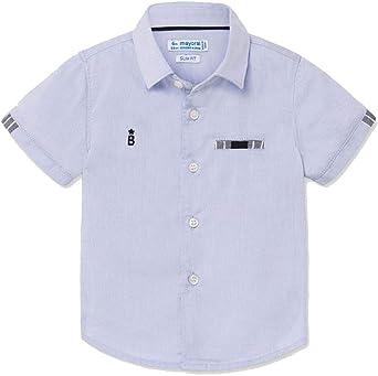 Mayoral - Camisa elegante para niño azul celeste 98 cm(3 años ...