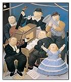 Artopweb Pannelli Decorativi Botero i Musicisti Quadro, Legno, Multicolore, 93x1.8x108 cm
