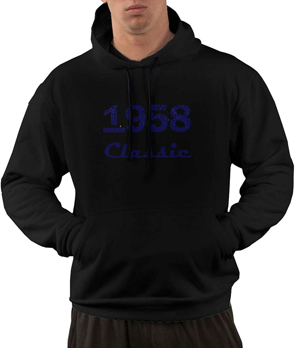 1958 Classic Men's Multifunctional Graphic Sweatsh We OFFer 5% OFF at cheap prices Hooded Pocket