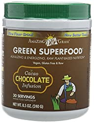 Chocolate Infused superfood Naturally balances and increases alkalinity. Supports immune and detoxification functions Blend of nutritious greens 240g Tub Blend of organic super foods that provides energy and health A full spectrum of alkalizing green...