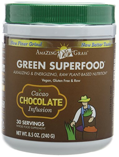 Amazing Grass Green Superfood, Cacao Chocolate Infusion, 30 Servings, 240 g