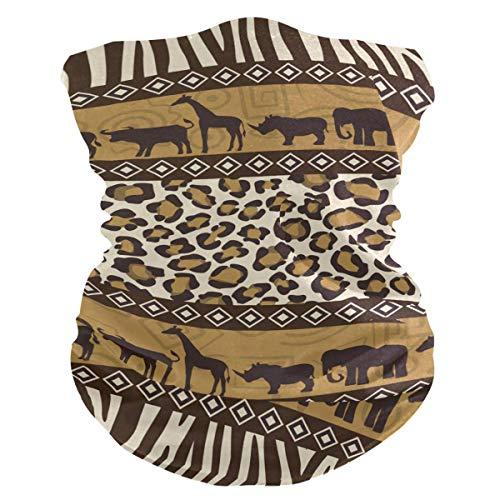 N / A Afrikanische Tiergiraffe,Nahtlose Kopfbedeckung,Männer Frauen Halstücher,Face Scarf Für Staub,Halsmanschette,Sturmhaube,Rundschal,Nahtloses Halstuch