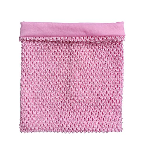 12inch Baby Pink Lined Crochet Tutu Tube Top Elastic Wrapped Chest for Girls DIY Tutu Dress Tube Tops