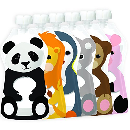 Review Squooshi Reusable Food Pouch | Animal 6 Pack | 5 Ounce (6 Count)