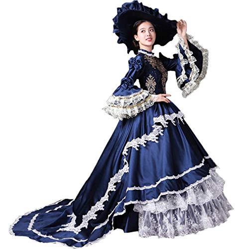High-End Court Rokoko Barock Marie Antoinette Ballkleider 18. Jahrhundert Renaissance Historische Periode Kleid Gewand für Damen - - X-Klein