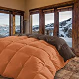 Energy Colors Textil - Hogar Edredón nórdico de 350 g Reversible (Bicolor). Siber (Naranja, Cama 135/150-240_x_260_cm)