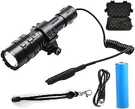 LED Tactische Zaklamp Ultra Heldere USB Oplaadbare Waterdichte Scout Licht Zaklamp Jacht Licht 5 Modi door 1 * 18650, hand...