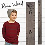 Wooden Ruler Growth Charts Ruler for Boys and Girls (Love Grows Gray)