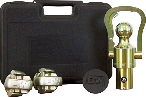 TruckProUSA B&W OEM Puck System Gooseneck Ball & Safety Chain Kit for GM, Ford, Nissan