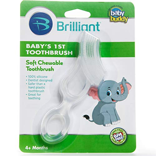 Baby Buddy Clear First Silicone Toothbrush by Baby Buddy