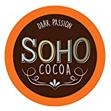 Soho Dark Passion Hot Chocolate Pods for Keurig K-Cup Brewers, 100 Count