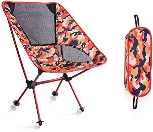 DXYSS Silla Plegable Ligera Pesca de la Luna Exterior Silla Plegable Silla del Ocio del Respaldo del sillón de Playa Camping Llevar heces (Color : Red)