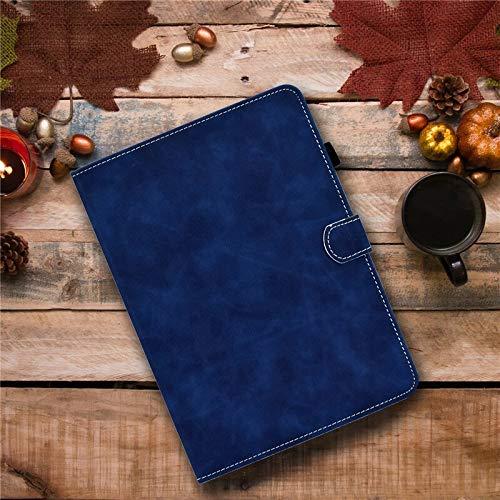 RZL Pad y Tab Fundas para la lengüeta A10.1 2019 SM T510 T515PU, el Soporte de Cuero del tirón de la Tableta Cubierta de la Tableta para la lengüeta SM-T510 SM-T515 10.1 '' (Color : Blue)