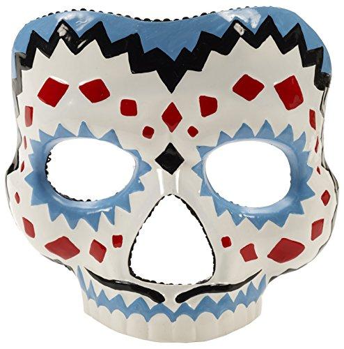 Forum Novelties Herren Day of The Dead-Male Kostüm-Maske, Multi, Einheitsgröße