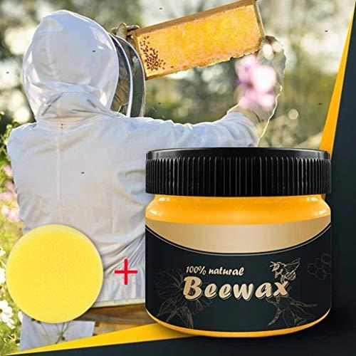 99native Wachs Möbelwachs Möbel Regenerator, Holz Möbelpflege Bienenwachs zur Reinigung, Auffrischung und Pflege antiker Möbel entfernt Wasserflecken retuschiert leichte Kratzer (85 g)