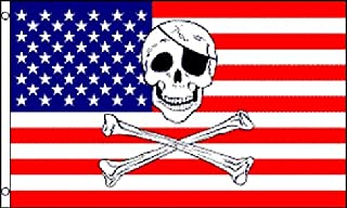 Pirate USA Skull and Crossbones Polyester 3x5 Foot Flag Jolly Roger American US