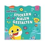 Baby Shark: Stickern, Malen, Gestalten: Mit Guckfenstern und 250 Stickern