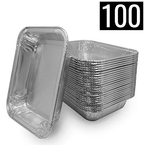 Mamatura 100 Aluschalen | Passend für Napoleon & Broil King Grills Alu-Tropfschalen, Grillschalen, 100 Stück