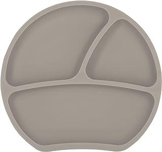 Kindsgut Bordje, silicone, bordje met zuignap, taupe