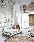Ciel de Lit, Restbuy Baldaquin Ciel de Lit Moustiquaire en Coton Tente de Lecture Jeu pour Bébé Enfant Fille Garçon Décoration Chambre (Blanc)
