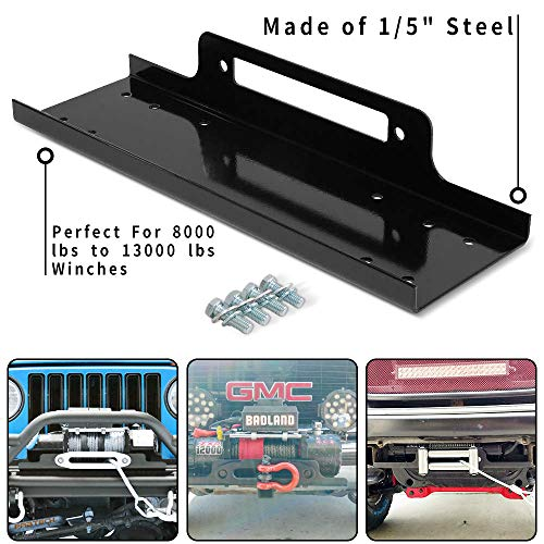 RUGCEL WINCH 23' Cradle Winch Mounting Plate, Winch Mount Recovery Winches