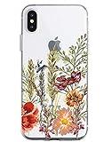 Oihxse - Funda para iPhone 6 y iPhone 6S con diseño de Mandala, Transparente, Silicona TPU, Flexible, protección Ultrafina, diseño Floral de Encaje Multicolor A13