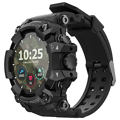 balikha Smart Watch 1.28'Relojes de Pantalla con Modos Deportivos Múltiples IP68 para Hombres Verde - Negro
