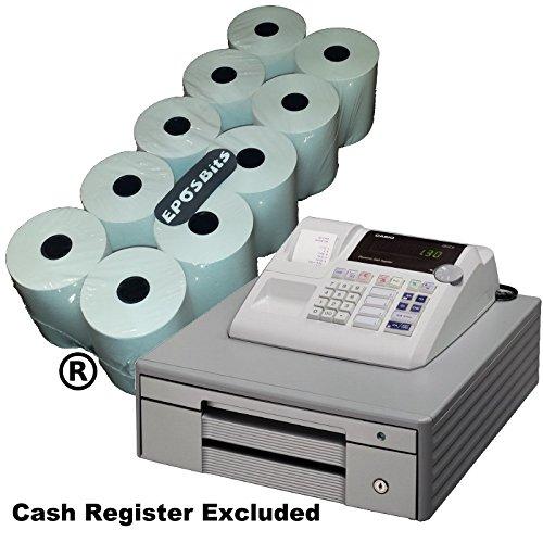 eposbits® marca 10 rollos – para Casio grande Draw 130 CR 130 CR caja registradora: Amazon.es: Oficina y papelería