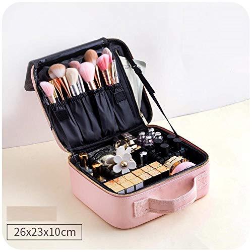 Make-up tas met grote inhoud, draagbaar, professionele opbergtas. 26 * 23 * 10cm