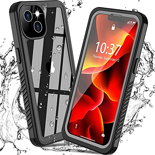 GOLDJU for iPhone 13 Mini Case Waterproof for IP68 Underwater Full Body Protective Case with Built in Screen Protector Only for iPhone 13...