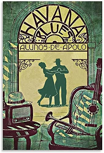 VVBGL Wall Decor Vintage Music Poster Havana Blues Canvas Art Poster and Wall Art Picture Print Modern Decor Posters50x70cm x1 No Frame