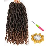 Faux Locs Crochet Braids 12 inch 6packs/Lot Bo Faux Locs Crochet Hair Curly Dreadlocks Synthetic Faux Locs Braiding Hair Extensions (20 Roots/Pack) #T1B/30