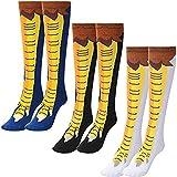 Calcetines hasta la rodilla con patas de pollo, patas de pollo divertidas y locas, calcetines novedosos con dibujos animados en 3D, estampado de animales, unisex para muchas ocasiones (B, L)