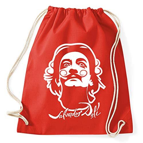 Styletex23 Salvador Dali Turnbeutel Sportbeutel Gym Bag, red