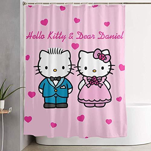 Pingshang Cortina de ducha con gancho - Hello Kitty and Dear Daniel...