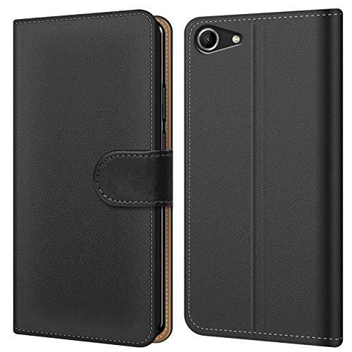 Conie BW44467 Basic Wallet Kompatibel mit Wiko Pulp Fab 4G, Booklet PU Leder Hülle Tasche mit Kartenfächer & Aufstellfunktion für Pulp Fab 4G Case Schwarz