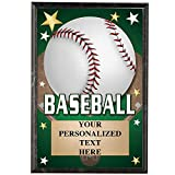 Baseball Plaques, 5 x 7 Glow in The Dark Baseball Trophy Plaque with Custom Engraving Prime