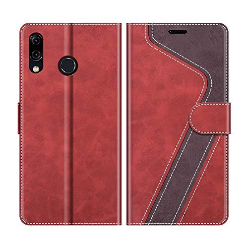 MOBESV Funda para ASUS Zenfone 5 ZE620KL, Funda Libro Zenfone 5 ZE620KL, Funda Móvil Zenfone 5 ZE620KL Magnético Carcasa para ASUS Zenfone 5 ZE620KL / 5Z ZS620KL Funda con Tapa, Rojo