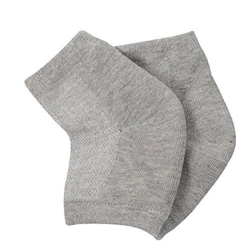 Frcolor 3 Paar Gel Fersen Socken Fersenschutz Fersensporn Bandage Fersen Feuchtigkeitsspendende Socken (Grau)