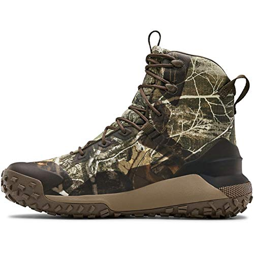 Under Armour Unisex HOVR Dawn WP 400G Hiking Boot, Realtree Edge (901)/Maverick Brown, 4 US Men